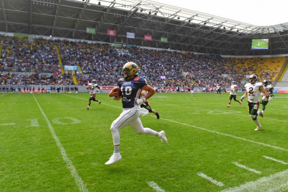 Quarterback Garret Safron begeisterte im zweiten Viertel mit einem 69-Yard-Lauf.