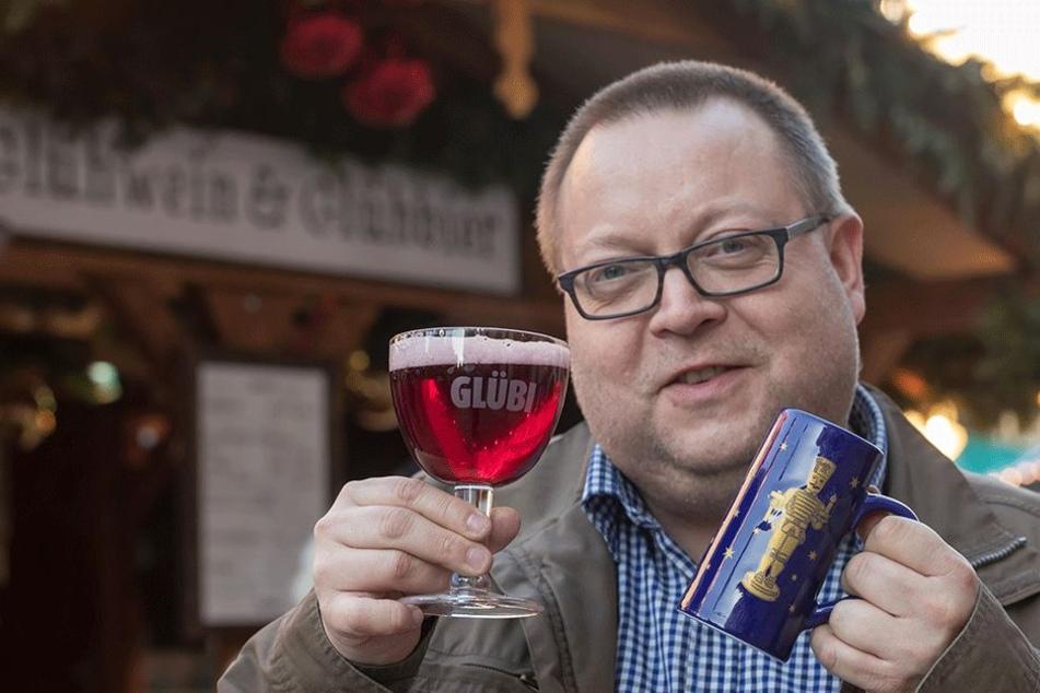 Glühwein war mal. Die kalorienarme Alternative heißt für TAG24-Redakteur Ronny Licht (40) jetzt Glühbier.