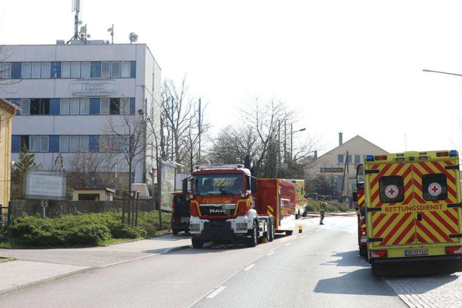 Die Karlsruher Str. war voll gesperrt.