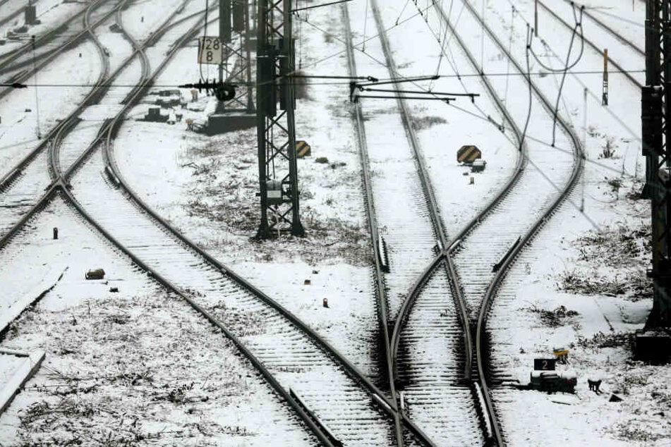 Aufgrund der Witterung musste der Bahnverkehr zwischen Gehlberg und Oberhof eingestellt werden.