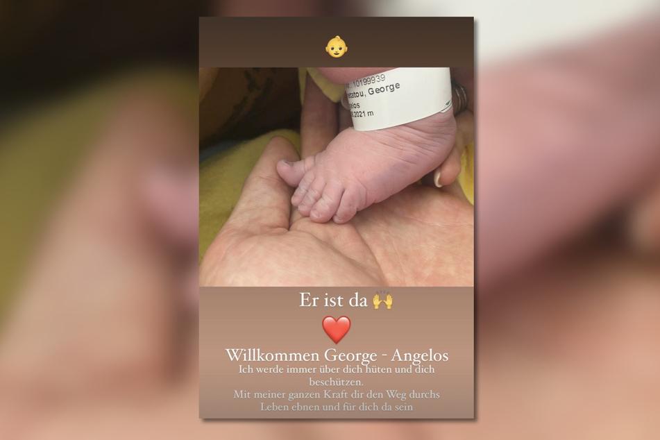 Papa Chris Broy (31) freute sich über die Nachricht, dass sein Sohn nun auf der Welt ist und teilte ein Foto in seiner Instagram-Story.
