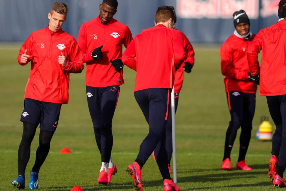 Wegen des Coronavirus wird RB Leipzig vorerst alle Trainingseinheiten ohne Zuschauer absolvieren.