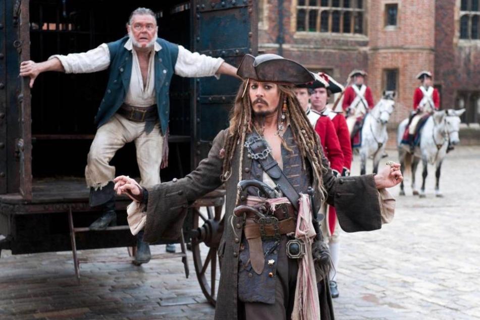 """Johnny Depp in der Rolle des Jack Sparrow in """"Fluch der Karibik - Fremde Gezeiten""""."""