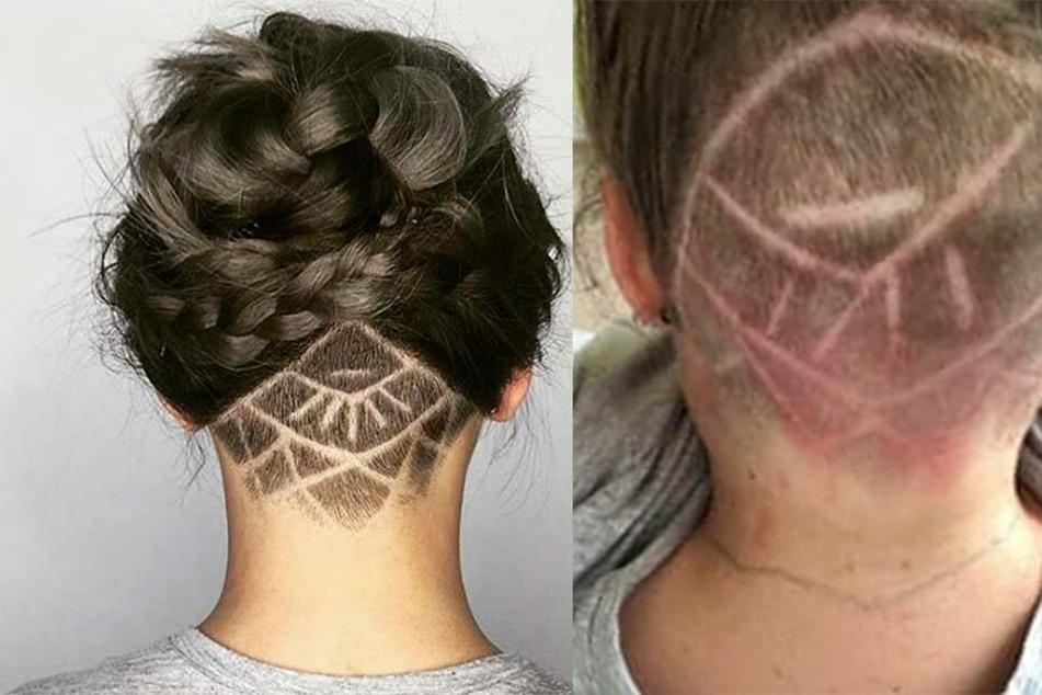 So wie auf dem Foto links sollte die neue Frisur aussehen, auf dem rechten Foto ist zu sehen, was dabei herauskam.