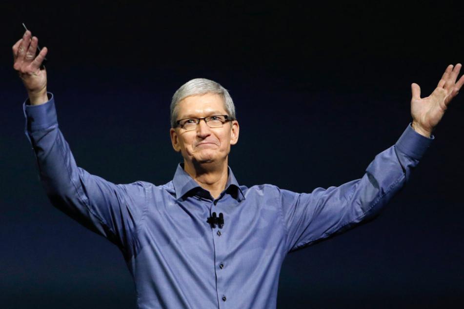 Apple-CEO Tim Cook präsentierte die Neuheiten.