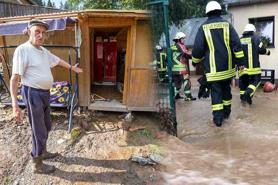 Unwetter im Vogtland: Dieser Ort steht schon zum dritten Mal unter Wasser