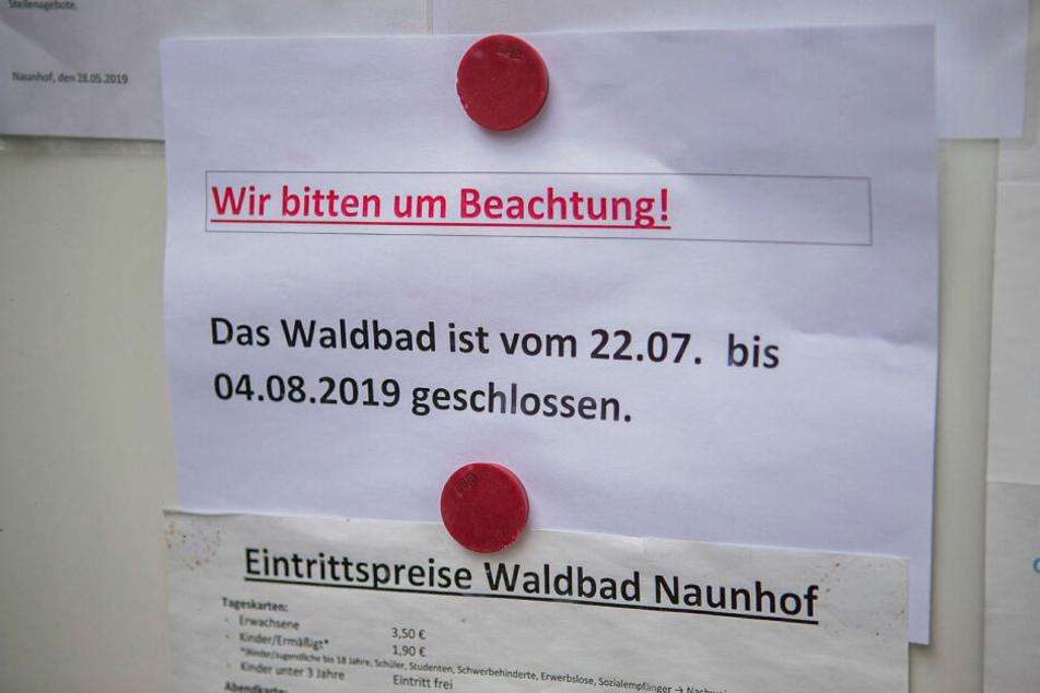 Doch ab morgen - pünktlich mit der nächsten Hitzewelle - ist das Freibad erst einmal für zwei Wochen geschlossen.
