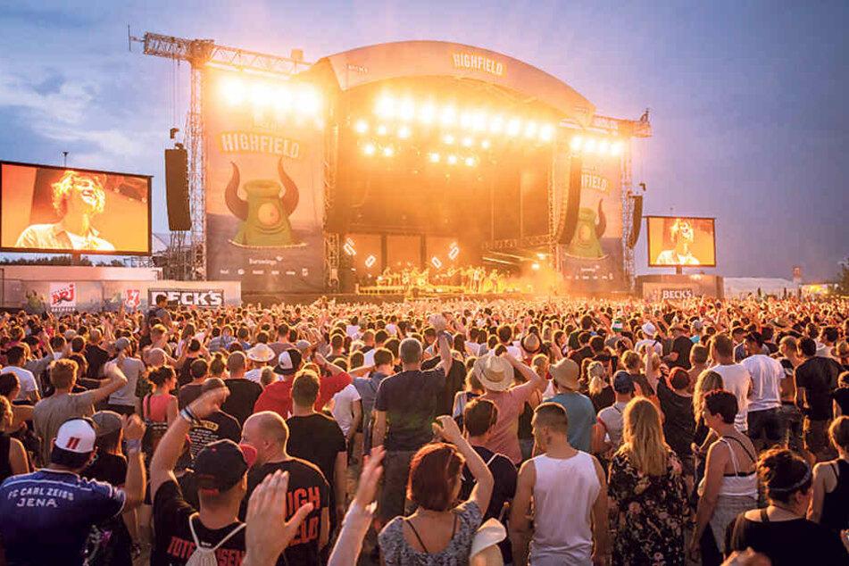 Das Highfield Festival fand bis 2009 in Thüringen statt, zog dann in den Landkreis Leipzig um.
