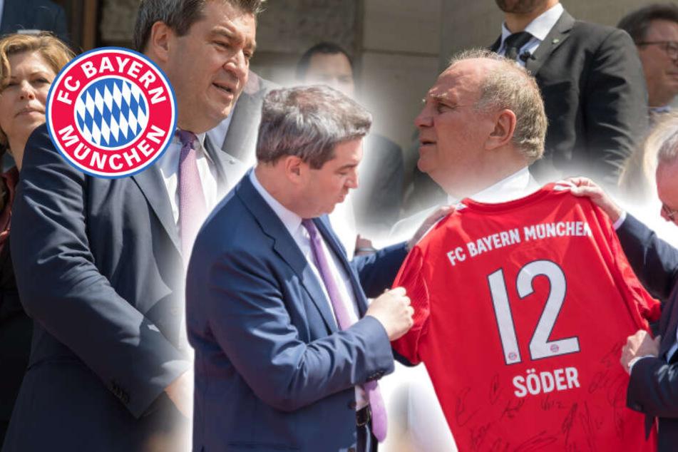 Söder empfängt FC Bayern, Spannung wegen Hoeneß