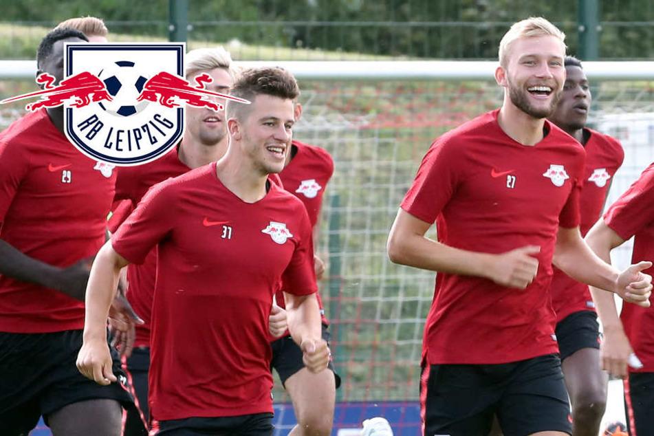 Trainingsauftakt bei RB Leipzig: Volle Ränge, tollstes Wetter, beste Laune