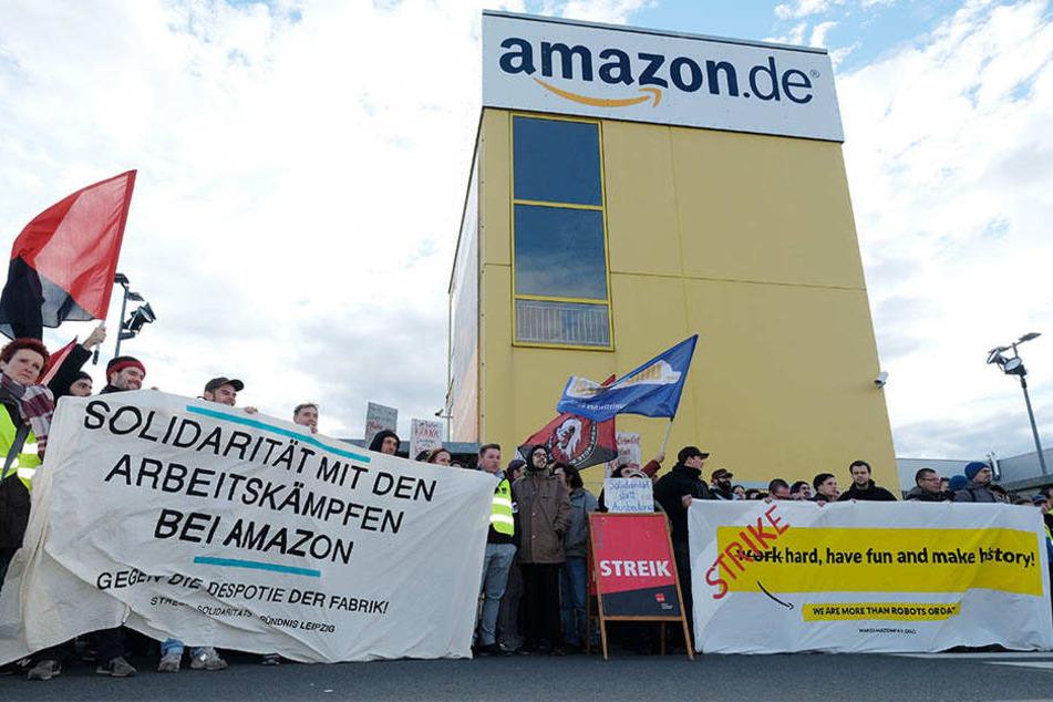 Weihnachtszeit ist Streikzeit: ver.di hat die Amazon-Mitarbeiter am Montag zum Streik aufgerufen. (Archivbild)