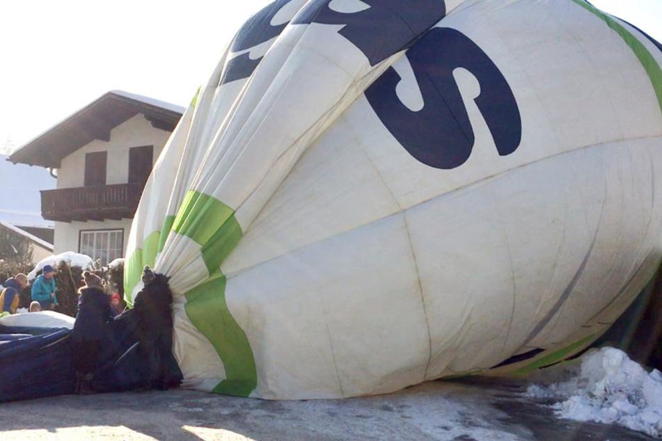 Ein Heißluftballon musste in Salzburg notlanden.