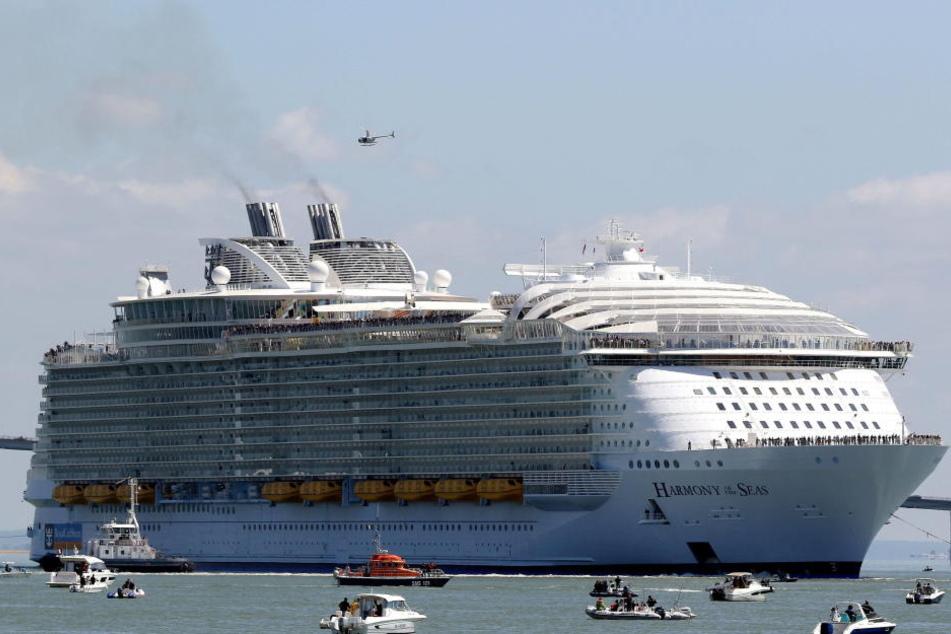 """Auf der """"Harmony of the Seas"""" hat es am Dienstag einen tödlichen Unfall gegeben."""