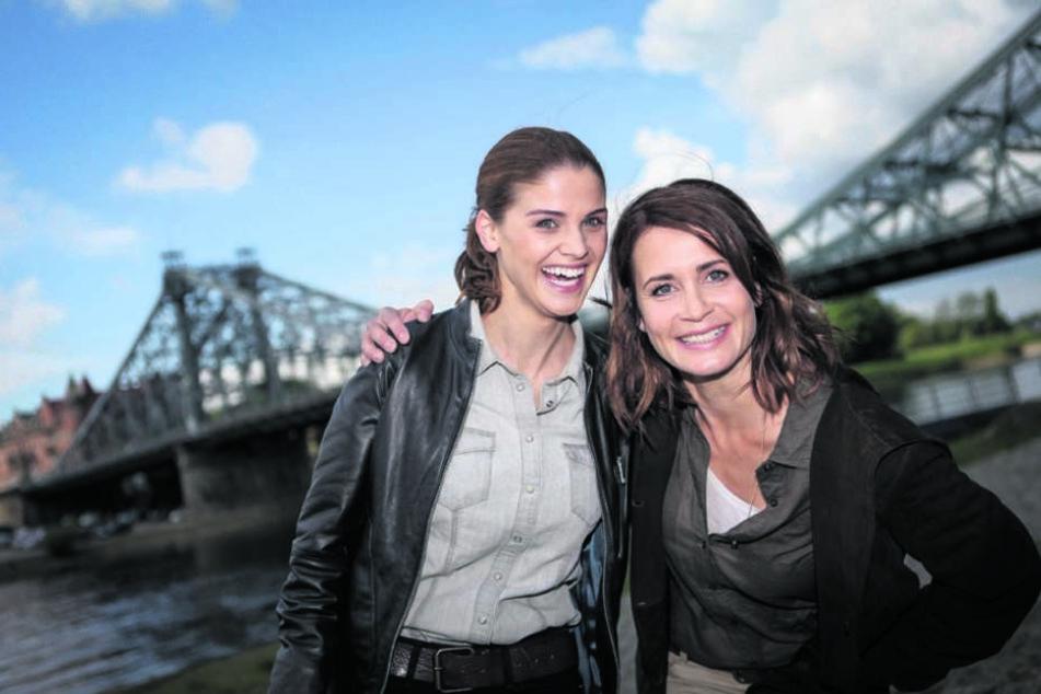 Die Hauptdarstellerinnen Lisa Tomaschewsky (29) und Anja Kling (47, r.). Nach nur zwei Folgen ist Schluss mit der Krimireihe vor Dresdner Kulisse.