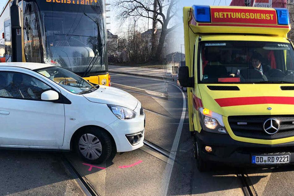 Der Fahrer des Wagens stand unter Schock, ein Krankenwagen wurde angefordert.