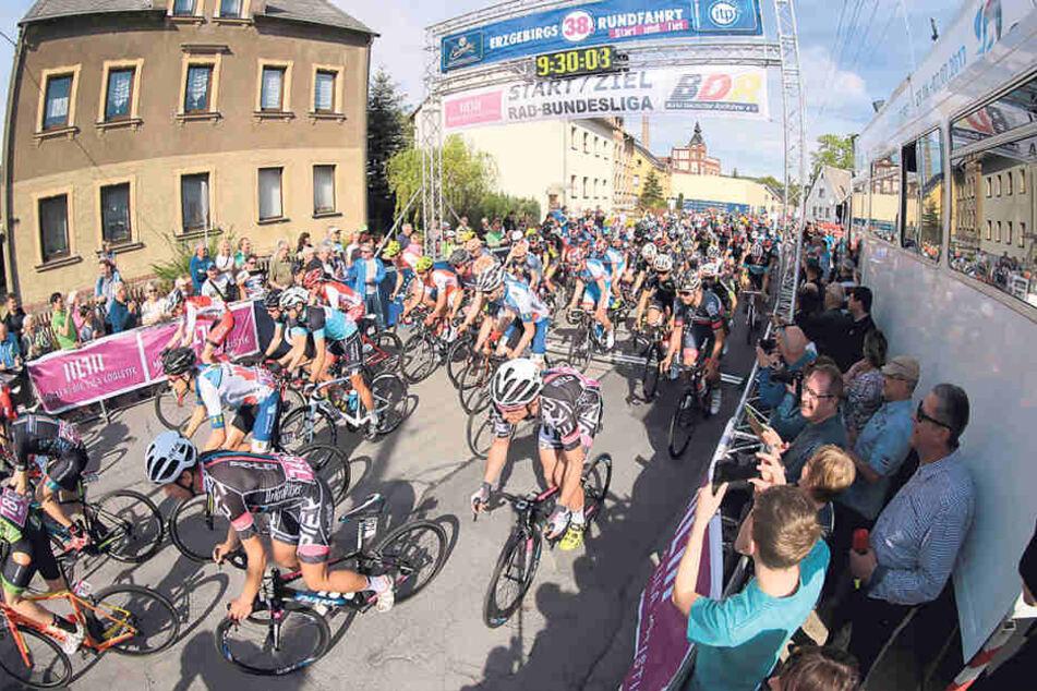 Dass Chemnitz schon Profi in Sachen Radsport ist, zeigt die jährliche  Erzgebirgsrundfahrt.