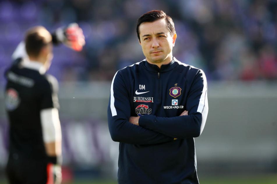 """Nach dem zweiten Tor vom HSV kippte das Spiel am Sonntag: """"Wie wir darauf reagiert haben, stimmt mich nicht zufrieden"""", so Daniel Meyer."""