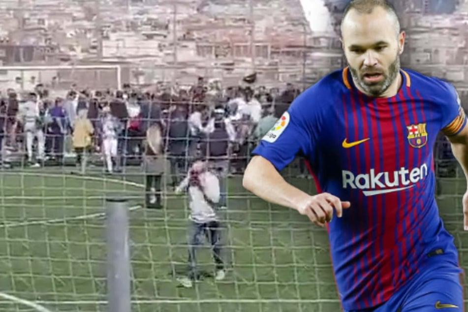 Tribüne zusammengebrochen! 18 Verletzte bei Abschieds-Interview von Iniesta