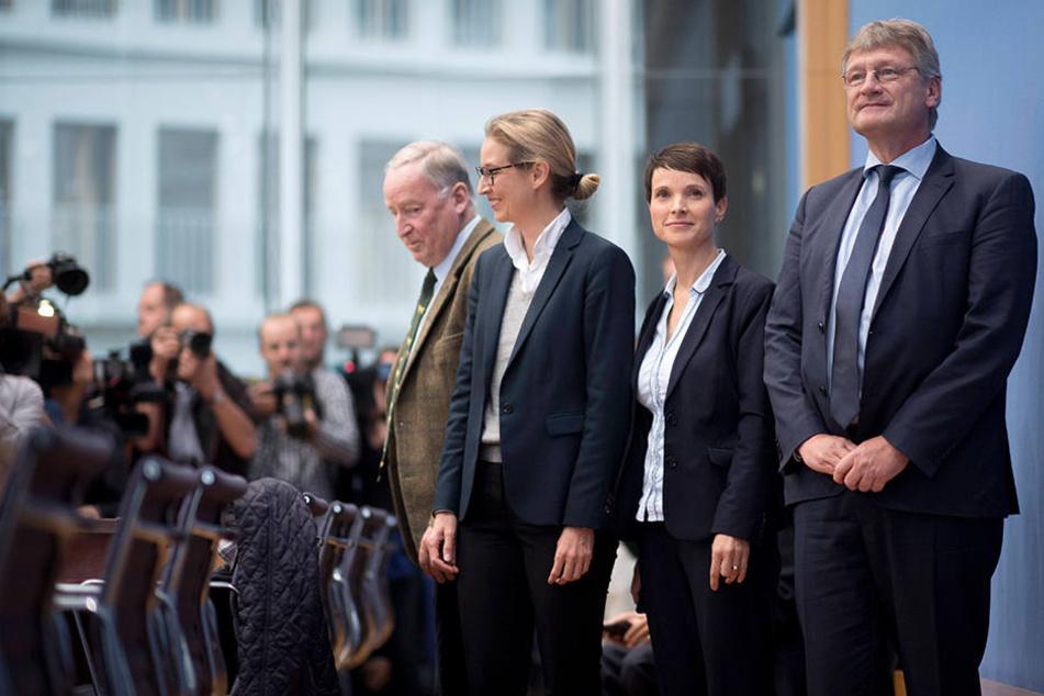 Am Tag nach der Bundestagswahl: Petry erklärt in der Bundespressekonferenz ihren Rückzug aus der AfD-Fraktion.