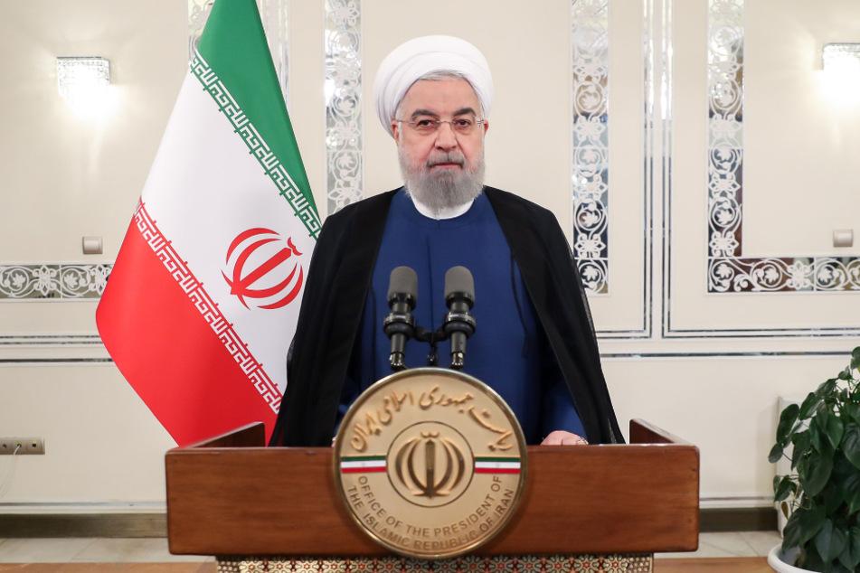 Iran, Teheran: Hassan Ruhani spricht während einer Aufzeichnung für eine Videobotschaft anlässlich des Beginns der Generaldebatte der 75. UN-Vollversammlung.
