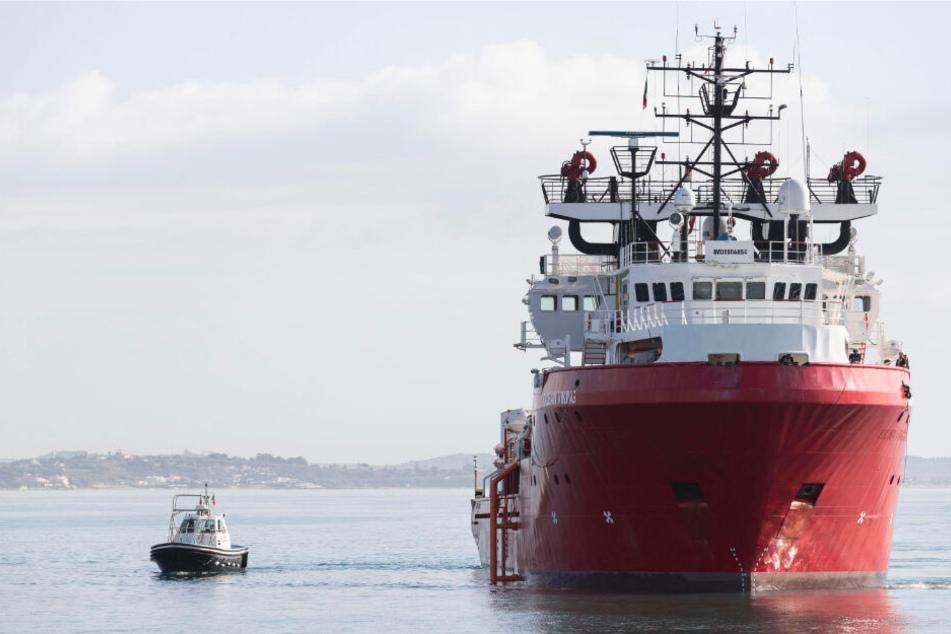 Coronavirus-Ausbruch in Italien: Flüchtlings-Rettungsschiff unter Quarantäne