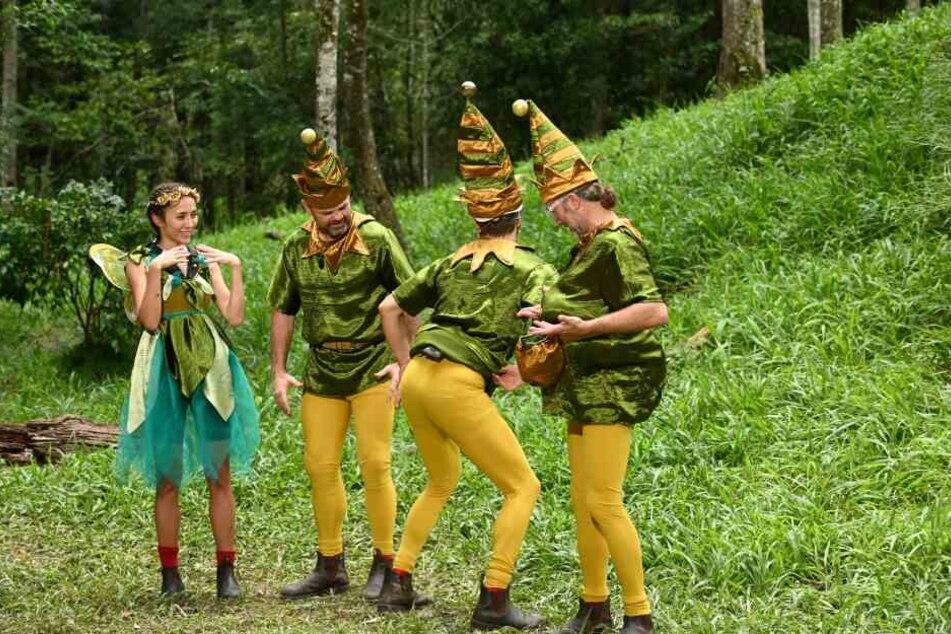 Vorfreude über eine am Ende vergeigte Dschungelprüfung bei Anastasiiiya, Box-Zwenni, Fa-ultier Raúl und dem Superhändler Markus.