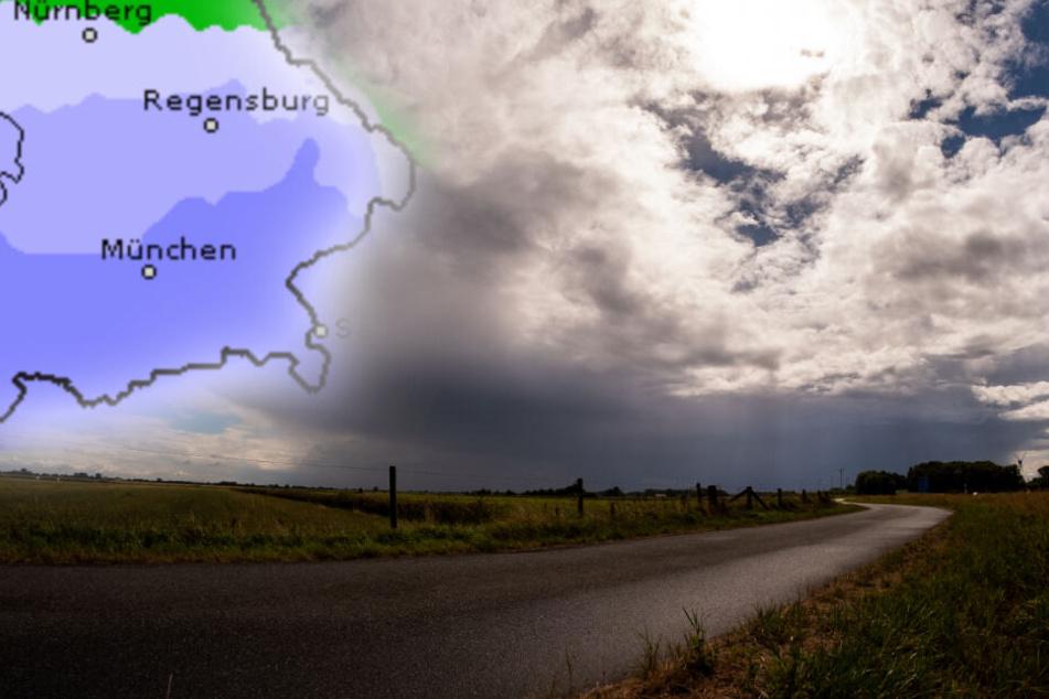 Das Bayern-Wetter zum Wochenbeginn: Sonne und Regen im Wechsel