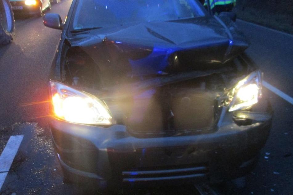 Der Toyota wurde erheblich beschädigt.