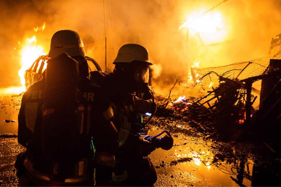 Es brannte auf einem Campingplatz in Heidesheim-Uhlerborn.