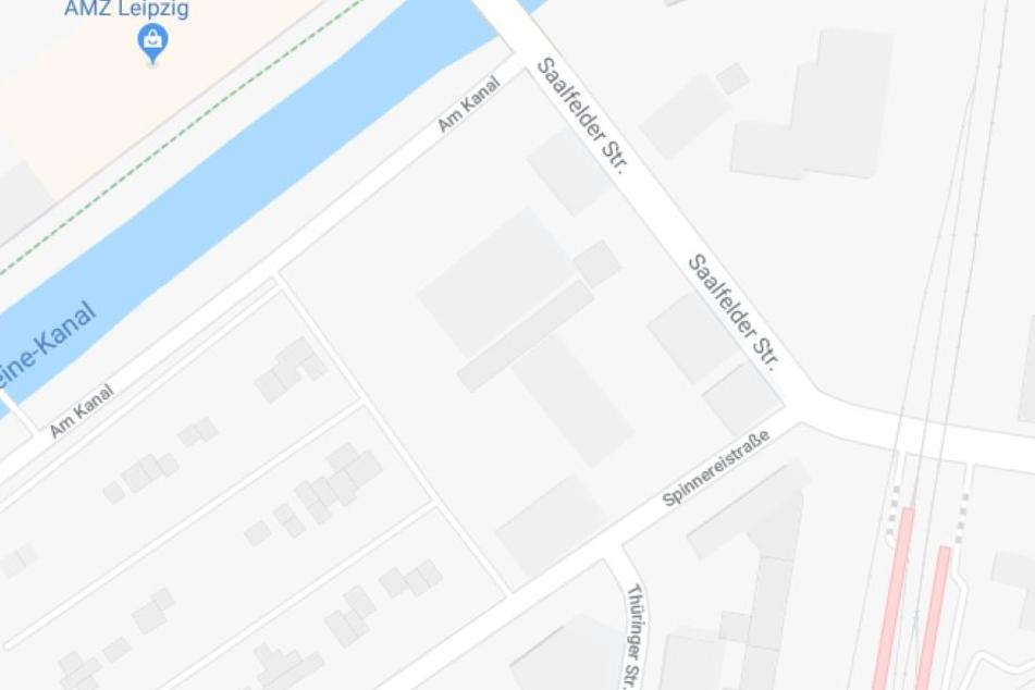 Die Spinnereistraße auf Google Maps.