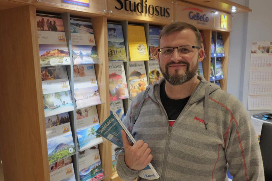 Ronny Lasseck (36) kennt die Reise-Wünsche der Chemnitzer.