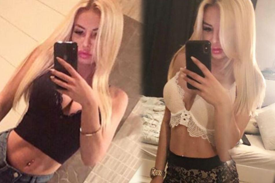 Die Montage zeigt zwei Screenshots aus dem Instagram-Profil von Sabrina.