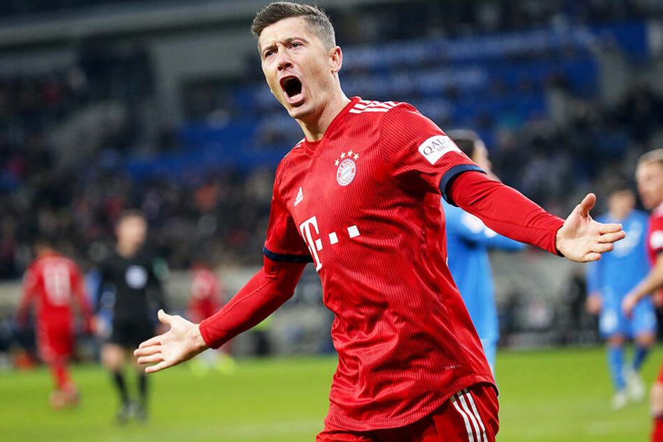 Obwohl Robert Lewandowski mit dem FC Bayern München 3:1 in Hoffenheim gewann, konnte der Abstand auf den BVB nicht verkürzt werden.