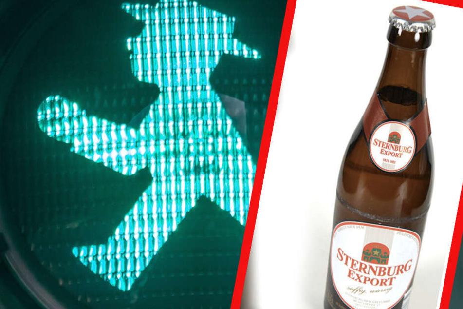 Irrer Vorschlag in Leipzig: Ersetzen Sterni-Flaschen jetzt die Ampelmännchen?