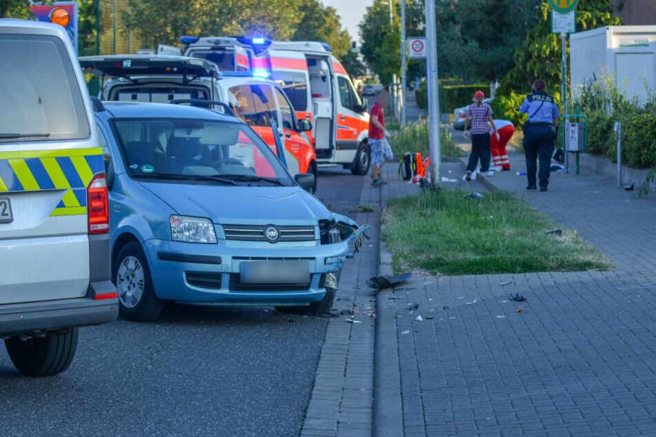 Offenbar hatte der Fiat-Fahrer beim Abbiegen den entgegenkommenden Motorradfahrer übersehen.