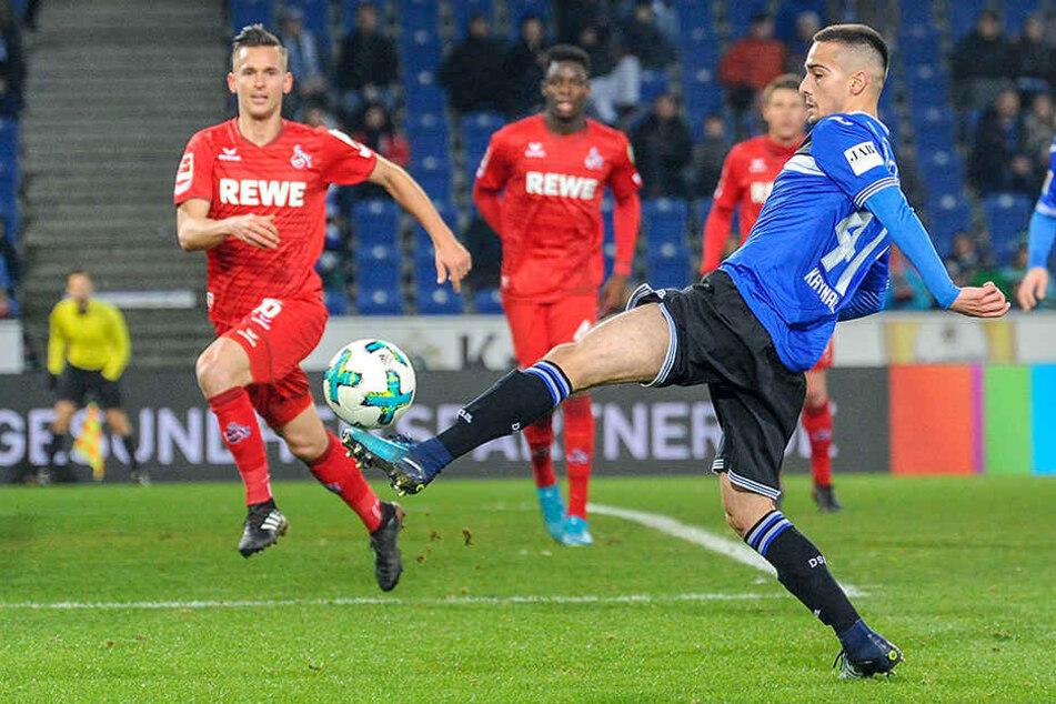 Dersim Kaynak (19) spielt derzeit für die U23 und kickte schon in der U19 für den DSC.