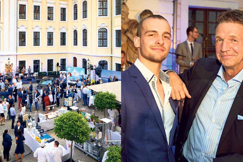 Kempi-Direktor Marten Schwass (56, r.) versteht sich mit GZSZ-Star Eric Stehfest (28)