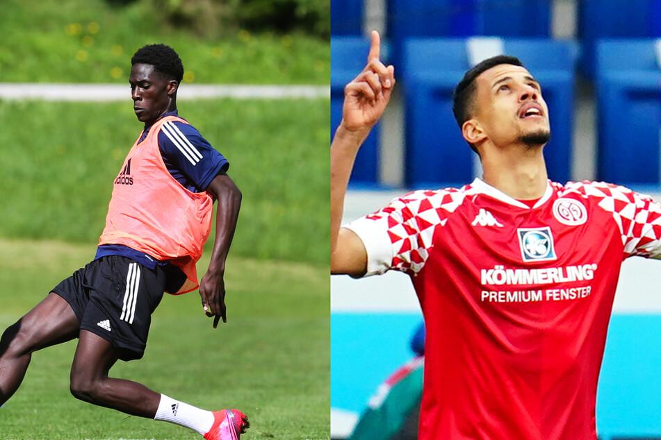 Amadou Onana (19, l.) und Robert Glatzel (27) sind nach ihren Corona-Infektionen ins Training des Hamburger SV zurückgekehrt. (Archivfotos)
