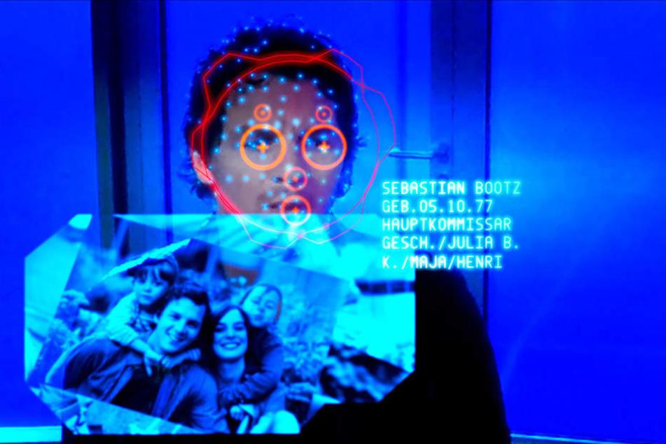 """Ein Blick in den Bildschirm genügt: Im """"Tatort: HAL"""" führt ein Gesichtsscan zum  kompletten Persönlichkeitsprofil."""