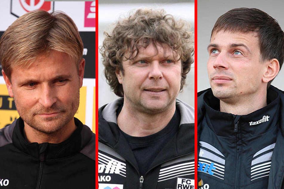 Bergner, Krämer oder Preußer (v.l.) - Wer von den Dreien wird der neue Trainer der Himmelblauen?