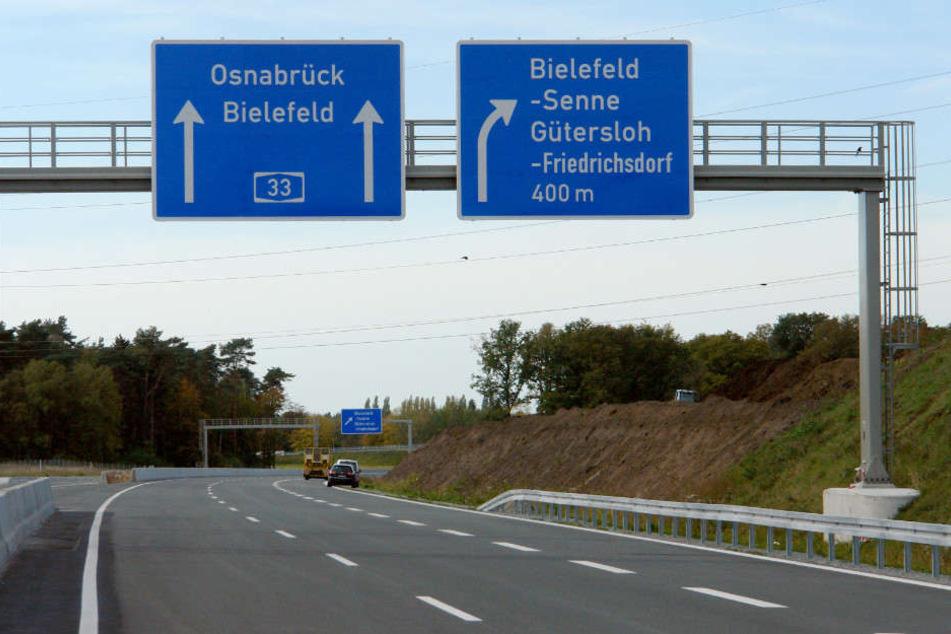 Auf der A33 soll es bis nach Osnabrück gehen.