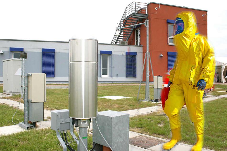 An der Wetterstation in Görlitz wurde der deutsche Spitzenwert an Ruthenium-106 gemessen (Bildmontage).