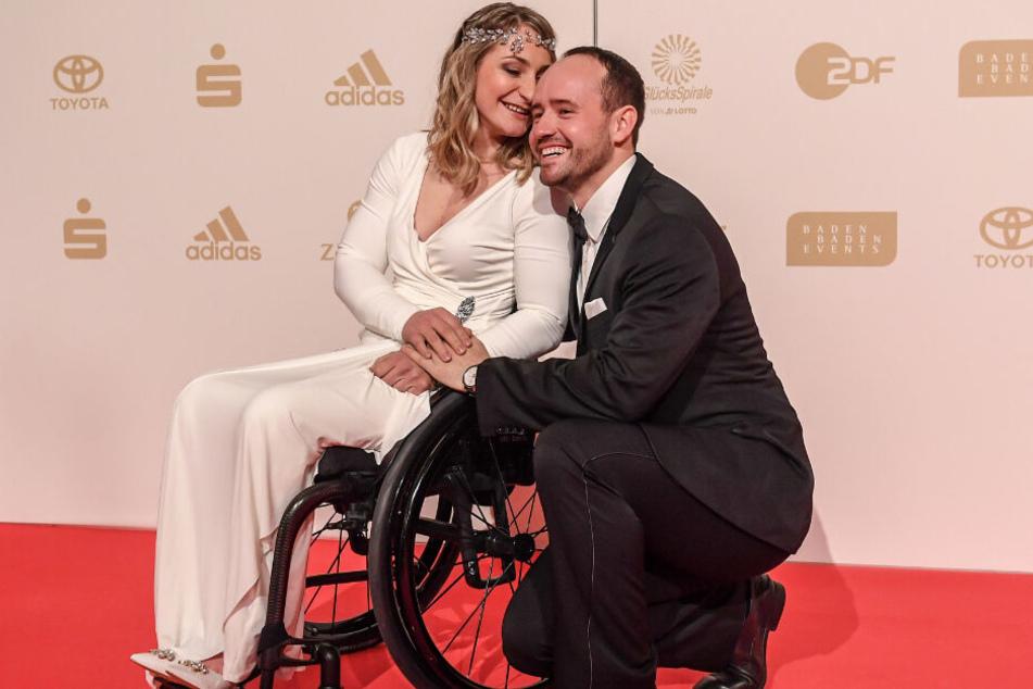 Das Foto aus dem Dezember 2018 zeigt Kristina Vogel mit ihrem Partner Michael Seidenbecher.