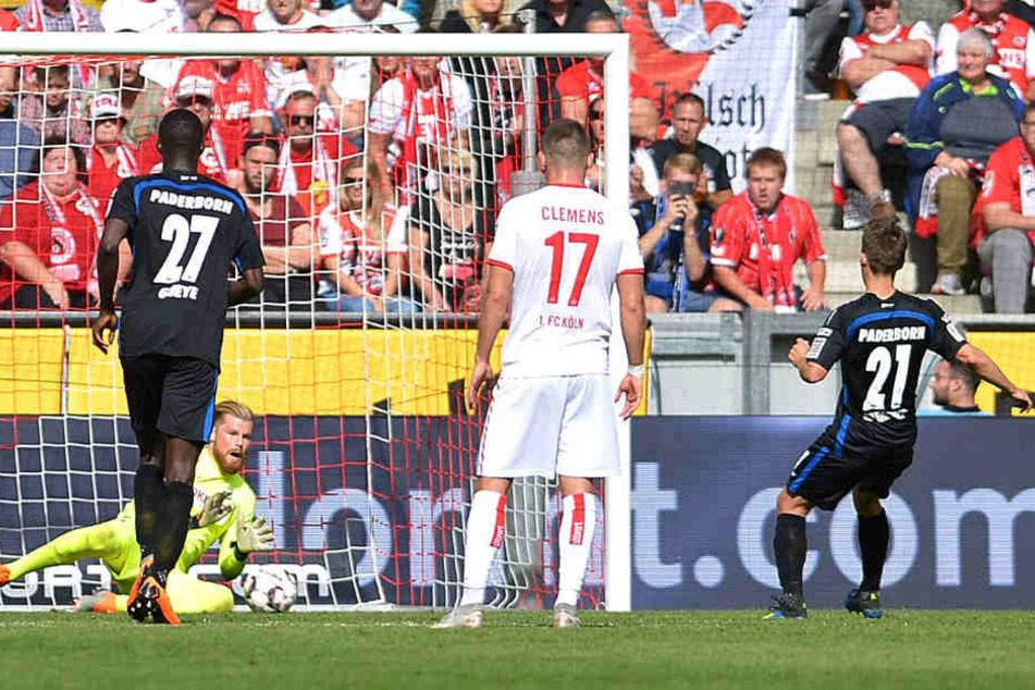 Den 11-Meter von Philipp Klement konnte der Kölner Keeper nicht halten.