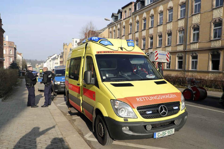 Bei dem Brand wurden zwei Bewohner verletzt.