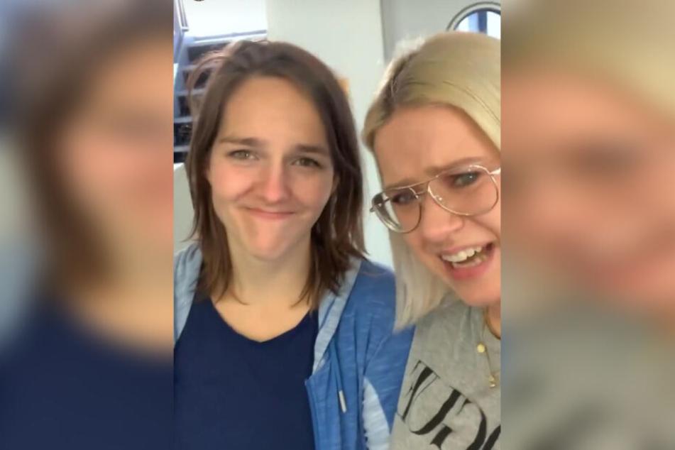 Freuten sich über die hohe Spendenbereitschaft: die R.SA-Frauen Theresa Seiter (l.) und Lena Mengler.