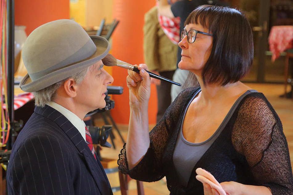 Zack in der Maske: Christine Palme musste des Öfteren nachschminken.
