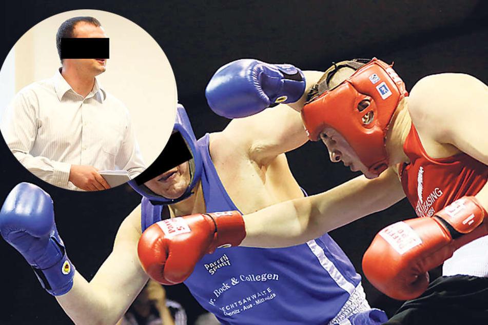 Weil er den Neuen seiner Ex verletzte, wurde der ehemalige Bundesliga-Boxer Frank L. (kl. F. l.) zu 700 Euro verurteilt.