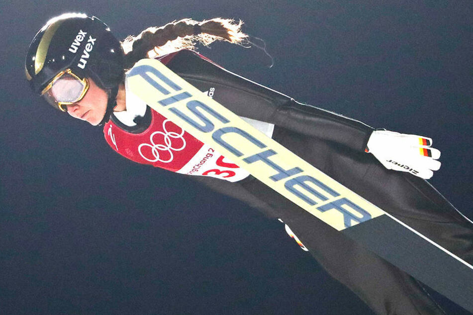 Carina Vogt, Olympiasiegerin von Sotschi 2014 belegte den 5. Platz.