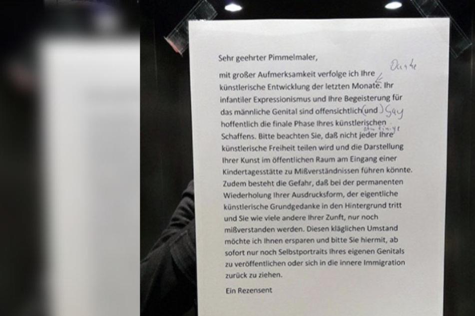 Berlin: Pimmelmaler nervt Nachbarn: Bewohner reagiert genial